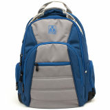 Universal M-Edge Cargo Backpack with 6,000mAh Portable Battery - Blue/Silver