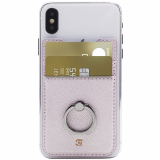 Caseco Universal Peel & Stick Phone Ninja Wallet with Ring - Light Pink