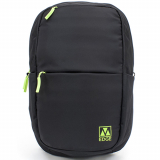 Universal M-Edge Tech Backpack with 6000mAh Portable Battery - Black with Lime