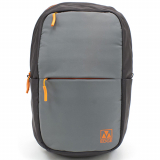 Universal M-Edge Tech Backpack with 6000mAh Portable Battery - Grey with Orange