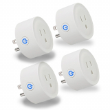 Universal Energizer Smart Plug 4-Pack Single Outlet - White