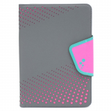 Universal M-Edge Sneak Folio 7in to 8in Tablet - Gray with Pink