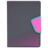 Universal M-Edge Sneak Folio 9in to 10in Tablets Gray with Pink