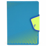 Universal M-Edge Sneak Folio 9in to 10in Tablets Aqua with Lime