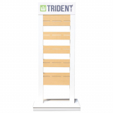 Trident Universal Metal Floor Display - White
