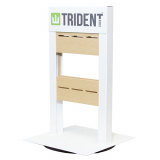 Trident Universal Revolving Counter Top Display - White (MOQ 64 Pieces)