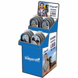 Blue Parrott Cardboard Shipper Display