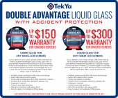 "TekYa Double Advantage Marketing Counter Mat 12""X10"""