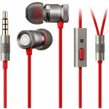 GGMM Lifetime Warranty Nightingale 3.5mm Handsfree Earbuds  - Red/Gunmetal Gray