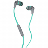 SkullCandy Ink'd 2.0 Handsfree Earbuds with In Line Mic and 3.5mm Jack - Gray/Mint