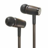 Aircom A6 Handsfree Airflow Magnetic Earbuds with In Line Mic and 3.5mm Jack - Wood