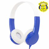 BuddyPhones Standard Handsfree Headphones with 3.5mm Jack - Blue