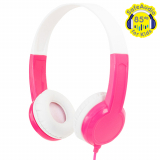 BuddyPhones Standard Handsfree Headphones with 3.5mm Jack - Pink