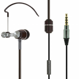 Trident NYX Natural Wood Universal Earhook Earbud - Black