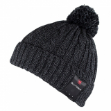Caseco Bluetooth Beanie with Built-In Headphones - Black Classic with Pom
