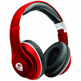 Ncredible1 Handsfree Bluetooth Over-the-Ear Headphones - Red