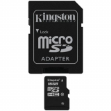 Kingston Class 10 Micro SD Memory Card With Adapter - 16GB