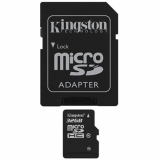 Kingston Class 10 Micro SD Memory Card With Adapter - 32GB
