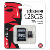 Kingston Class 10 Memory Card with Adapter - 128 GB