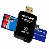 **NEW**Xtreme Tech Multifunctional USB 2.0 Card Reader/Writer - Black