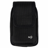 Nite Ize Nylon Vertical Hard Shell Black Pouch With Velcro Closure - X-Large