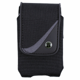 EcoLife Vertical Nylon Pouch with Magnetic Closure - Black/Gray - Large