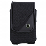 EcoLife Vertical Nylon Pouch with Magnetic Closure - Black - Large