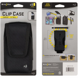 Nite Ize Nylon Vertical Black Clip Case Cargo Pouch with Velcro Closure X-Tall