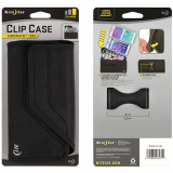 Nite Ize Nylon Horizontal Clip Case Velcro Closure Black Pouch - XXLarge