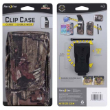 Nite Ize Nylon Vertical Clip Case Cargo Pouch with Velcro Closure - Double Wide Mossy Oak