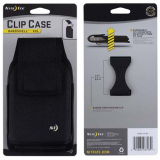Nite Ize Nylon Vertical Clip Case Velcro Closure Black Pouch - XXLarge