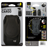 Nite Ize Nylon Vertical Clip Case Cargo Pouch With Velcro Closure - Large Tall