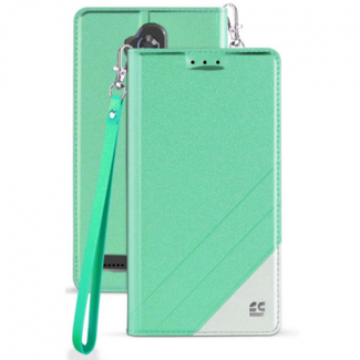 ZTE Blade Max 3 Beyond Cell Infolio C Series Leather Case - Mint/White